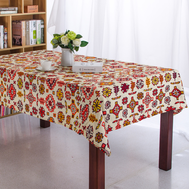 Snowflake Beige Ethnic Dining Lace Tablecloth Canvas Cotton Table Cloth  Picnic Outdoor Coffee Wedding Table Cover Toalha De Mesa In Tablecloths  From Home ...