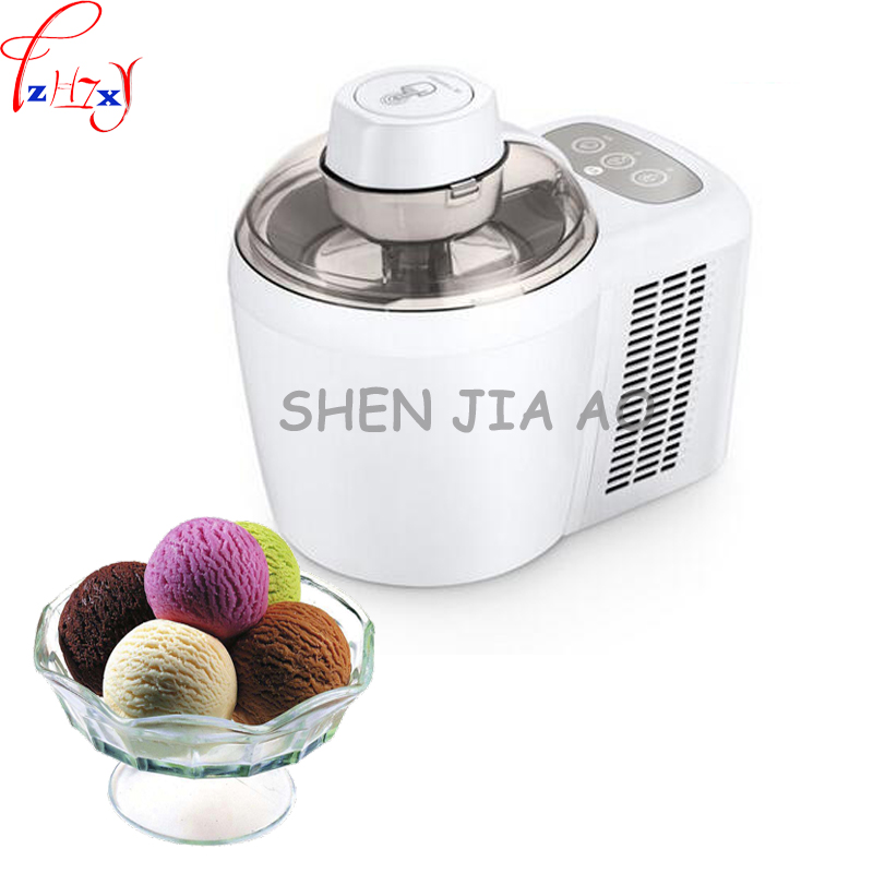 1pc 220V 90W Home mini fruit ice cream machine automatic soft / hard ice cream machine children diy ice cream machine free shiping fried ice cream machine 75 35cm big pan with 5 buckets fried ice machine r22 ice pan machine ice cream machine