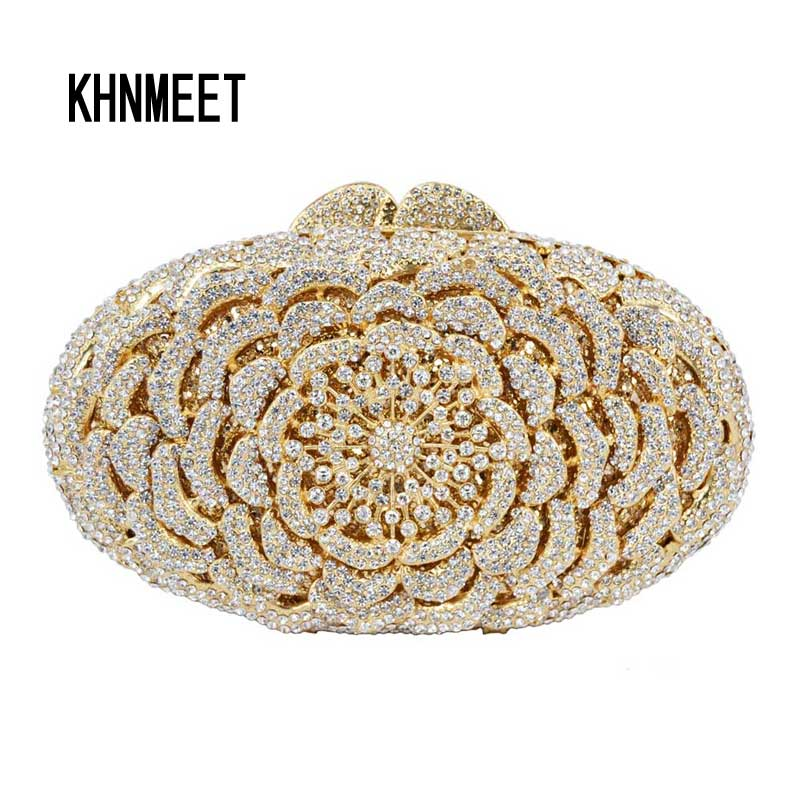 Gold Luxury diamond crystal evening bags silver ladies party purse bags prom clutch bag women wedding bag soiree pochette SC119 yu19 1 crystal evening bag clutch peacock diamond pochette soiree women evening handbag wedding party purse clutch bag