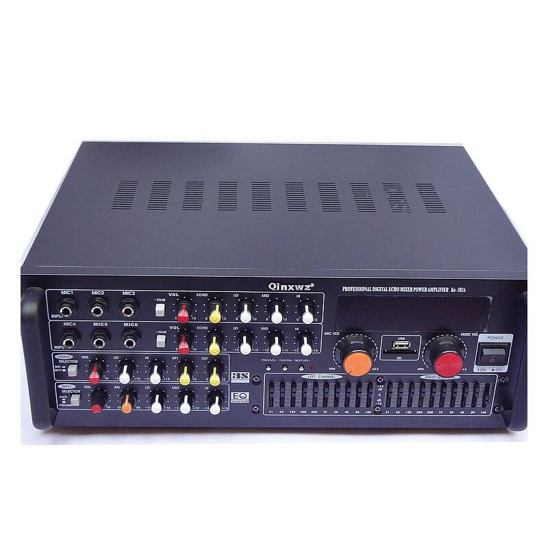 Bluetooth amplifier 220V home amplifier high power karaoke amplifier AV professional KTV amplifier KA-302A 220v 240v 200w 200w sunbuck av mp326c professional digital echo mixer amplifier home karaoke amplifier with eq equalization