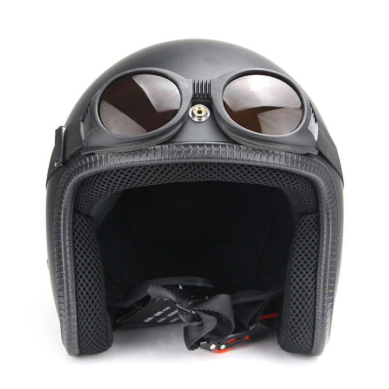 NEW Arrival WWII Vintage style motorcycle goggles Pilot Motorbike goggles Retro Jet Helmet Eyewear 3 color lens