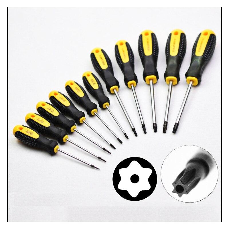 1PC Torx T5 T6 T7 T8 T9 T10 T15 T20 T25 T27 T30 Screwdriver With Hole Magnetic Screw Driver Home Phone Repair Hand Tools