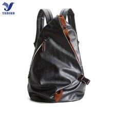 2017 Fashion Brand Men's Backpack PU Leather Backpacks Male School Bags Laptop Backpack Man Black Waterproof Travel Backpack