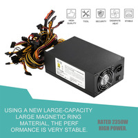 Hot 2350W High Efficient Power Supply For Eth Rig Ethereum Coin Mining Miner Dedicated Machine With