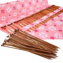 36-pacote de agulhas de tricô de bambu para iniciante & profissional camisola conjunto de agulhas de crochê (18 tamanhos de 2mm a 10mm) diy tricô