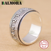 BALMORA Solide 925 Sterling Silber Buddhistic Sechs