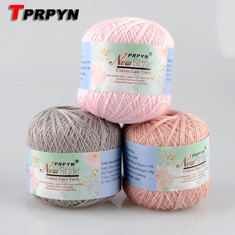 Tprpyn 1pc50g 8 Crochet Cotton Yarn Thin Yarn Lace Cotton Crochet