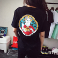 2016 Summer Casual Hip Hop Women T Shirt Short Sleeve O Neck Funny Cat Ripndip God Tshirt Women Clothing
