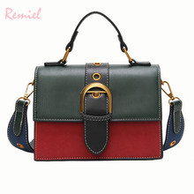 Bags for Women 2018 Fashion New Quality PU Leather Women bag Hit color Portable Shoulder Messenger Bag Travel Tote Crossbody bag cheap Handbags Panelled Interior Compartment Cell Phone Pocket Polyester Shoulder Bags England Style U0211 Shoulder Handbags