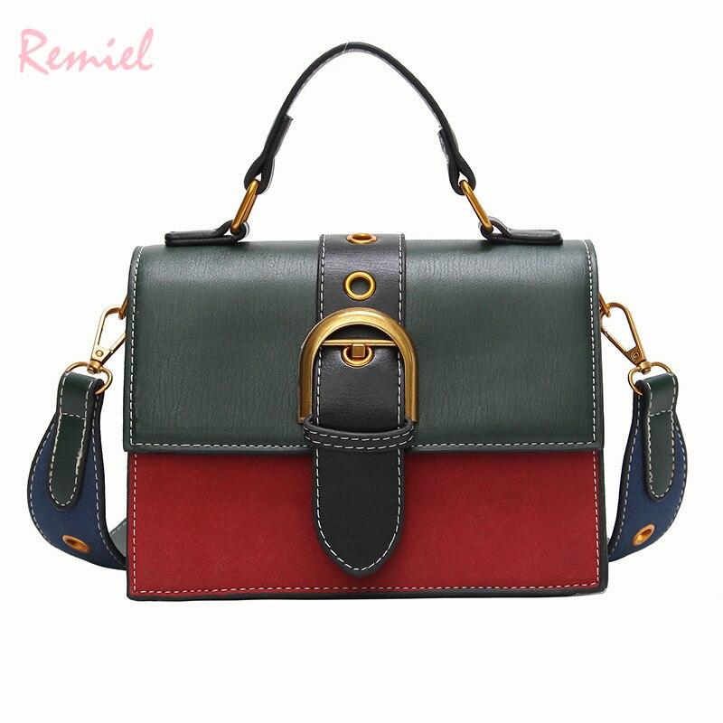 Bolsas para las mujeres 2018 de moda nueva calidad de cuero de la PU de las mujeres de color portátil hombro bolsa de bolso de cuero bolsa
