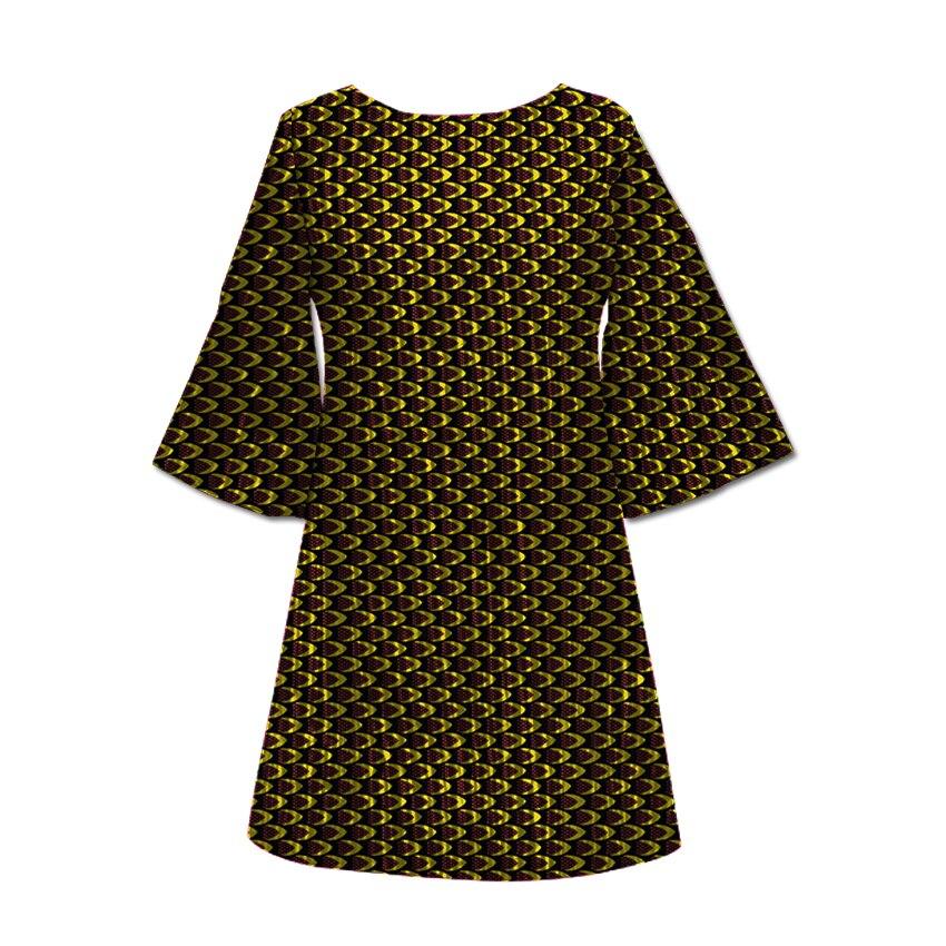 Mode Africaine Imprimer Nouvelle Conception Femmes Robe Africain Festive Flare Manches Robes Dames Dashiki Afrique Femmes Vêtements Personnalisés