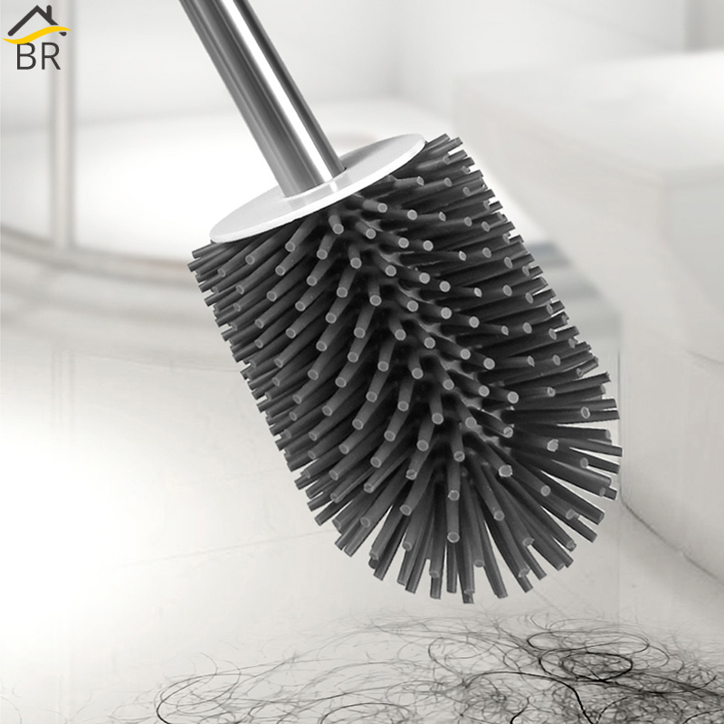BR Multifunction Floor standing Toilet Brush Set with Tweezer Toilet Cleaning Long TPR Bathroom Brush for Toilet WC Accessories in Toilet Brush Holders from Home Improvement