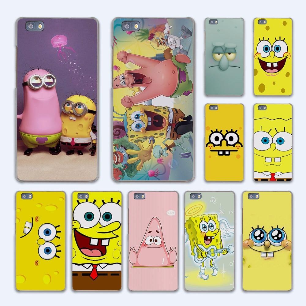 Best Friend Patrick Queen Spongebob Stars design hard transparent Case Cover for Huawei P10 P8 P9 lite P7 Mate 7 8 Mate9 Mate S