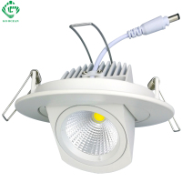 LED Downlights 10W COB Ceiling Adjustable Recessed Down Lights130 140lm W Dimmable Bathroom Kitchen Residential Indoor