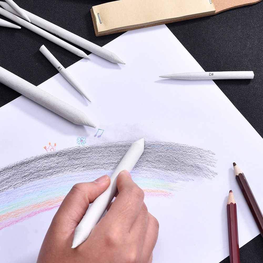 3/6Pcs Sketch Paper Set Rubber Double Head Dedicated Pastel Charcoal Paper Sketch Drawing Art Painting Supplies White Pen