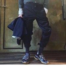 Уличная молния впитывает пот и Штаны с кулиской и эластичной резинкой на талии в стиле «хип-хоп» Грузовые Военные брюки для бега Штаны-шаровары Штаны Для мужчин