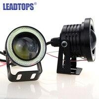 A Car On The LED Lens 30W Fog Lamp With COB Angel Eyes Fog Fog Modified