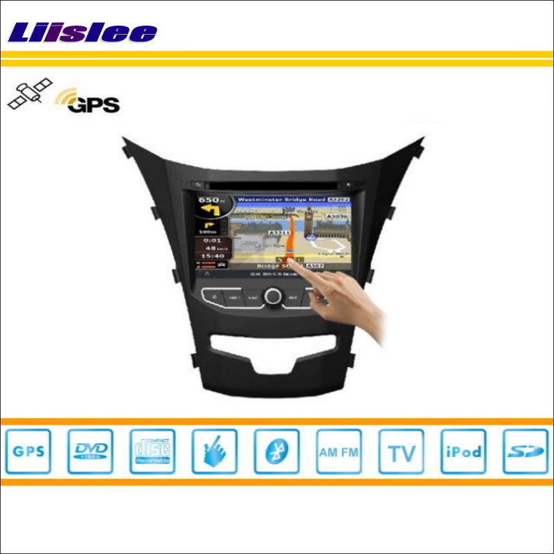 Liislee Car Android Multimedia For SSangYong Korando 2013~2015 Radio CD DVD Player GPS Navi Navigation Audio Video Stereo System image