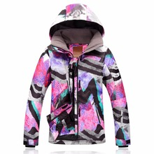 Gsou Snow winter snowboard jacket women ski suit female colorful ski jaket ladies skiing coat waterproof