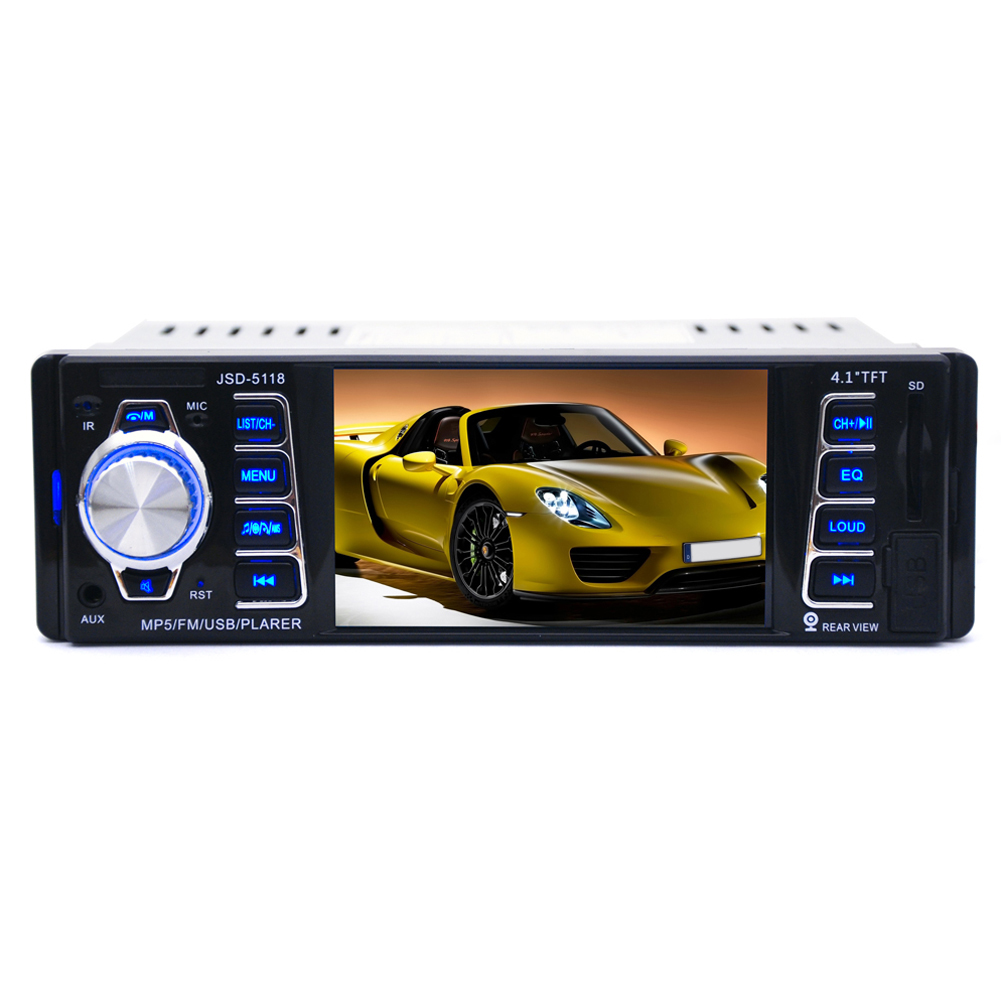 4 1 TFT Screen LCD Built in Bluetooth Microphone Car Radio Stereo MP3 Player Wheel Control