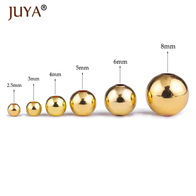 Beads & Jewelry Making Supplies For Jewelry High Quality Copper Spacer Beads 2.5mm/3mm/4mm/5mm/6mm/8mm Seed Beads For Jewelry Making Findings Perles Good For Antipyretic And Throat Soother