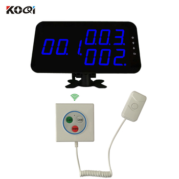 Most Popular Wireless Patient Call With LED Display 3-keys Call Emergency Cancel Button For Hospital Nursing Home