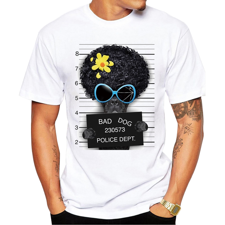 2017 creative dog police dept design men t shirt pug for T shirt design 2017