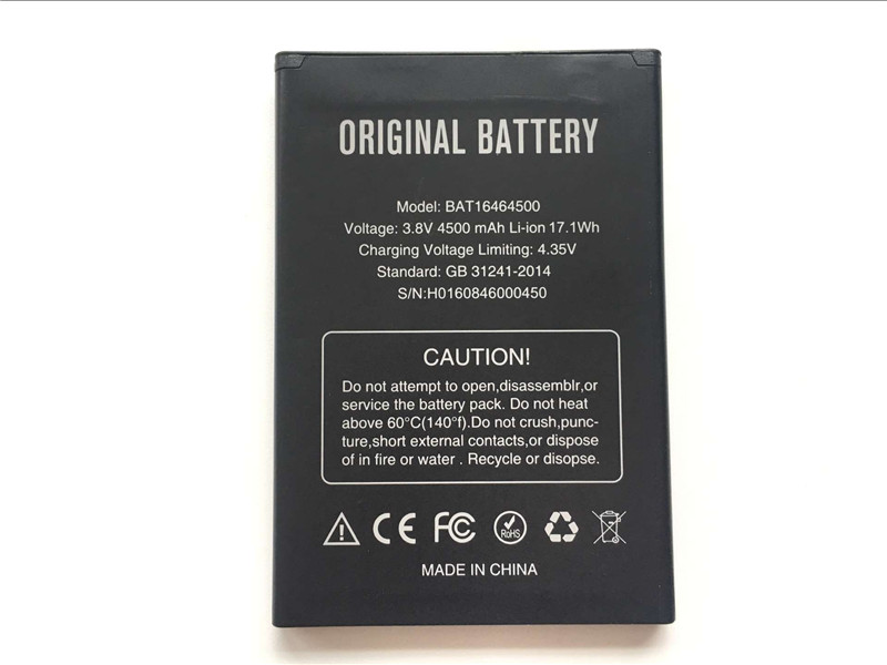 DOOGEE T5 Battery Replacement BAT16464500 4500mAh Large Capacity Li-ion Backup Battery For DOOGEE T5 Lite Smart Phone - In Stock