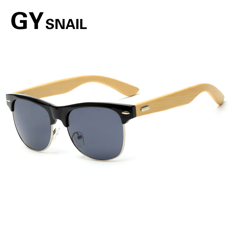 GY Fashion Handmade Wood Wooden Sunglasses men classic brand Designer for Men Women googles gafas de sol steampunk Sun Glasses