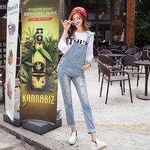 2016 Новых прибытия женщин плюс большой размер свободные джинсовые комбинезоны с нагрудниками комбинезоны леди шик карманные комбинезоны Длинные брюки Джинсы