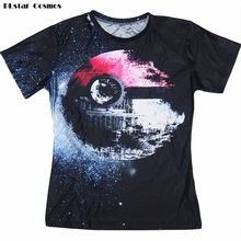 563ec2e9 PLstar Cosmos Pokeball Death Star T-Shirt Sexy Tee Pokemon Wars vibrant t  shirt summer casual tops pullover women/men plus size