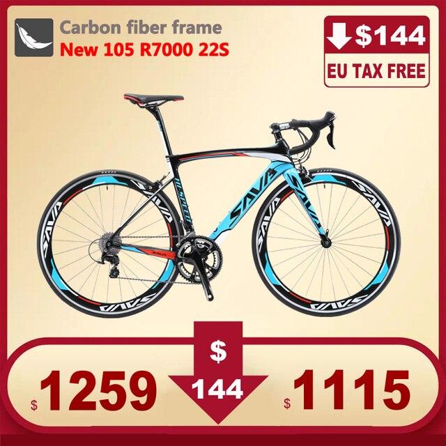 Сава шоссейные велосипеды 700c углерода дороги велосипед Скорость дороги углерода велосипед с SHIMANO 105 R7000 ЕС Налоги Бесплатная вело де маршрут