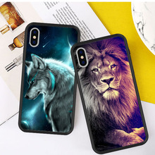Animal Case For iPhone XS MAX Black Hard PC Phone Cover for iPhone X 6/6S/7/8 Plus XR 5 5s SE Cover Fashion Phone Case black cover japanese samurai for iphone x xr xs max for iphone 8 7 6 6s plus 5s 5 se super bright glossy phone case