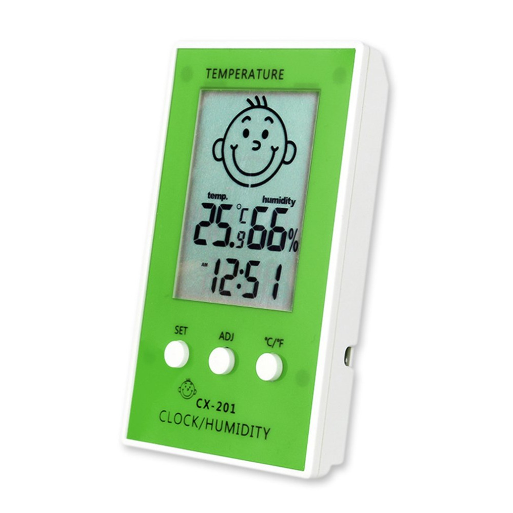 Electronic Thermometer Hygrometer Weather Station Digital Indoor Outdoor LCD Screen Temperature Humidity Monitor Meter