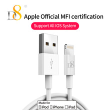 D8 [Mfi Certified] White USB Cable 1m Charger Cord for iPhone XS MAX XR X 8 7 6 6s Plus 5 5s 5C SiPod iPad 4 mini Air iOS 8 9 10