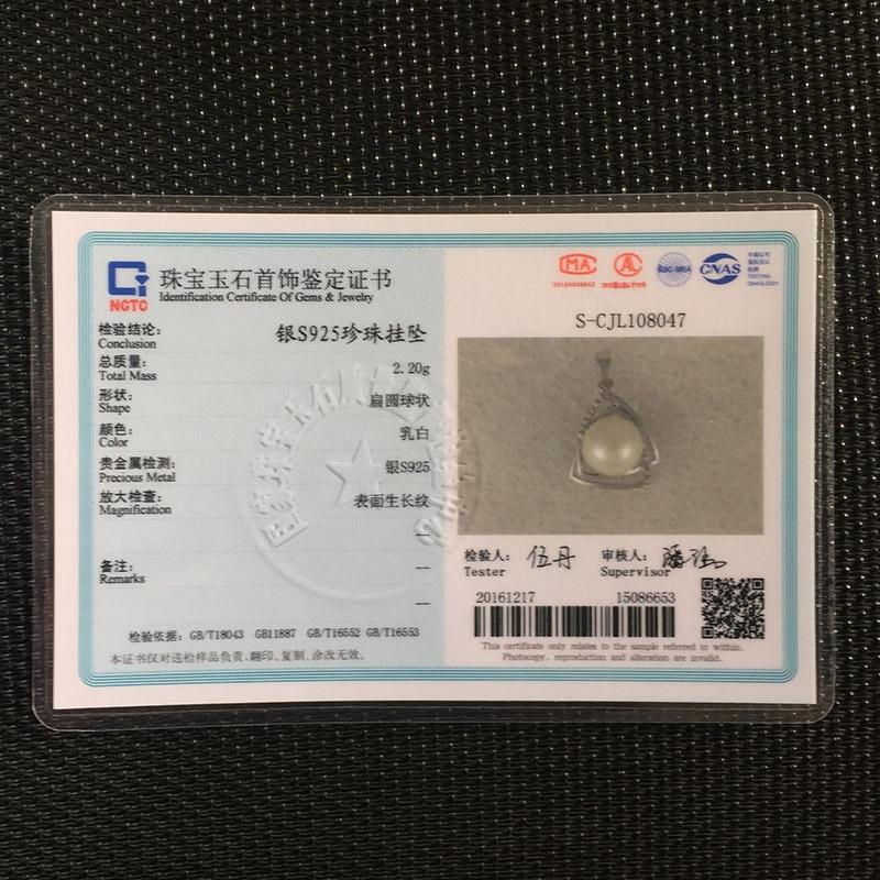 16,18inch 925 sterling gümüş qutu zənciri təbii şirin su incisi - Gözəl zərgərlik - Fotoqrafiya 6