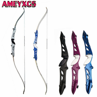 66 Archery Takedown Hunting Recurve Bow Aluminum Alloy Riser Right Hand 16lbs 40lbs For Outdoor Hunting Shooting Accessories