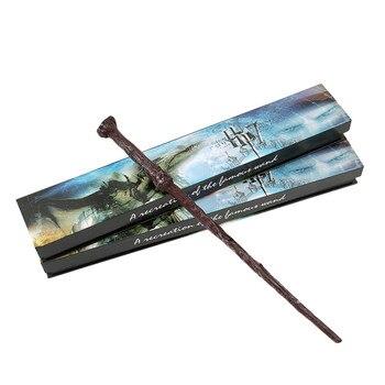 цена на Cosplay Series Children Magic Wand Metal/Iron Core Dumbledore Hermione Magic Trick Kid Toys Cosplay Elegant Ribbon Kids Gift Box