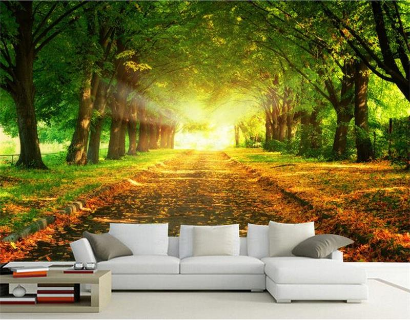 3d room photo wallpaper custom mural non-woven wall sticker trees on both sides sunshine painting TV setting wall 3d wallpaper 3d wallpaper custom mural non woven 3d room wallpaper tv setting wall crane brick wall murals photo wallpaper for walls 3 d