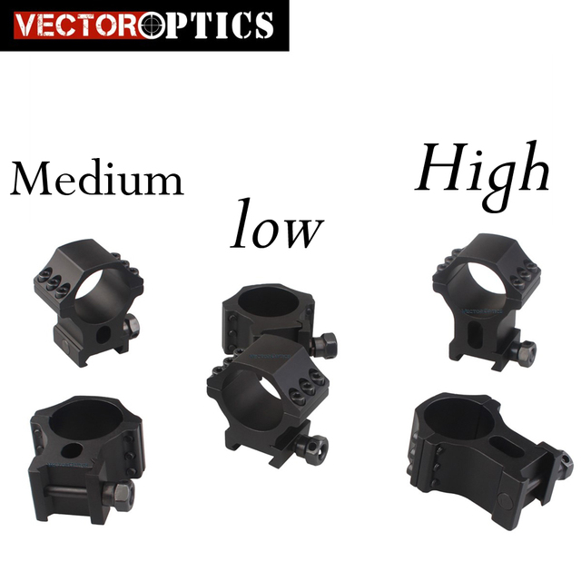 "Vector Optics 30mm Tactical 1"" 1.25"" 1.5"" Profile Extreme Precision X-Accu With 6 Screws Riflescope Picatinny Rings"