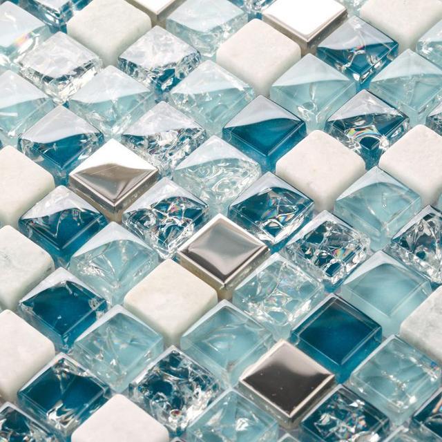 Tienda Online Piedra de cristal Crackle mosaico de vidrio backsplash ...