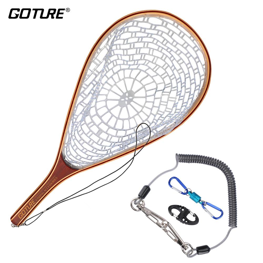 Goture Voler De Pêche Net Épuisette Ensemble Monofilament En Nylon De Pêche Réseau avec Pêche Lanière Corde Magnétique Boucle