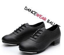 New Discount Adult White And Black Oxford Shiny Patent Leather Lace-Up Flat Dance Tap Shoes For Men