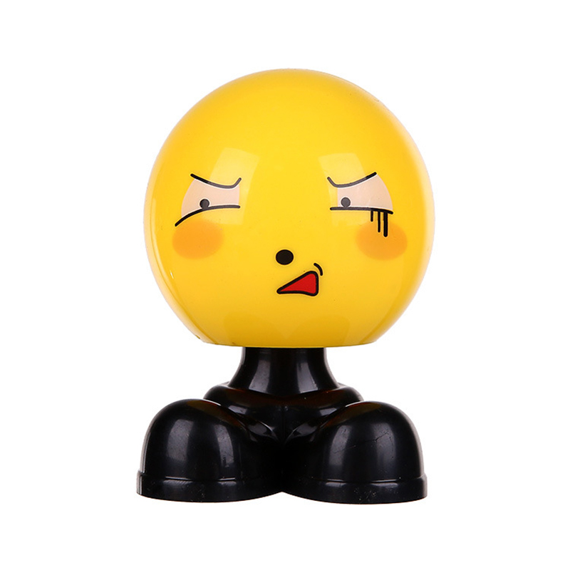 Image 5 - Creative Car Shaking Head Ornaments Cute Personality Loading Car Emoticon Bag Jewelry Ornaments   girl car accessories-in Ornaments from Automobiles & Motorcycles