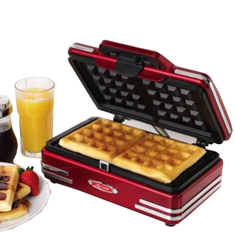 цены  Household mini waffle machine DIY breakfast machine baking tools cake machine electric waffle machine 220V 750W RMDM200