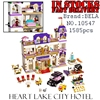 Bela Friends 10547 1585pcs Heartlake Grand Hotel Building Blocks Bricks Enlighten Toys For Girls Birthday Gifts
