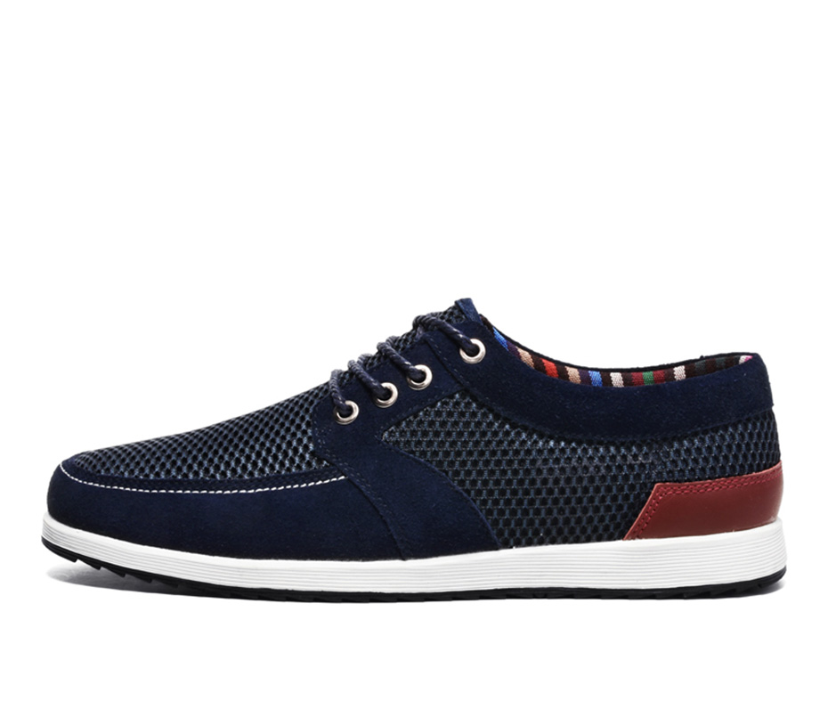 Men's Breathable Casual Shoes Summer Cool Mesh Upper Sneakers Man Soft Comfortable 2601-2624 Boat Shoes Brand Outdoor Footwear
