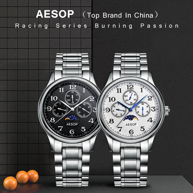 d9f5d062a1a AESOP Fashion Men Watch Men Week Display Sapphire Crystal Quartz Wrist  Wristwatch Male Clock Relogio Masculino Hodinky Box 46-in Quartz Watches  from Watches ...