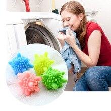 6gab / set Magic Decontamination Veļas bumbas pretapgāšanās Mazgāšanas lodīšu žāvētājs Bumbiņas, kas nodrošina veļas mazgāšanas svaigu žāvēšanu Auduma mīkstinātājs