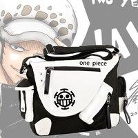 Japón anime One Piece mono D. luffy lona casual zipper hombres mujeres bolsa de hombro mochilas mensajero 8 estilo